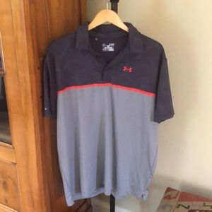 Under Armour loose fit polo shirt heat gear xl